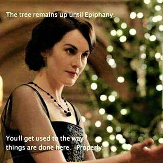 the tree stays up until Epiphan